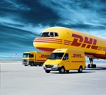 Dostawa tuszy tonerów firmą kurierską DHL