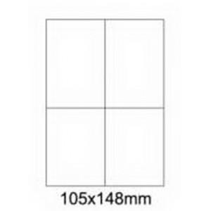 Etykiety uniwersalne samoprzylepne białe A4 Emerson o wymiarach 105mm x 148mm - 4 etykiety na arkuszu - 100 arkuszy w opakowaniu