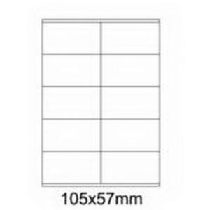 Etykiety uniwersalne samoprzylepne białe A4 Emerson o wymiarach 105mm x 57mm - 10 etykiet na arkuszu - 100 arkuszy w opakowaniu
