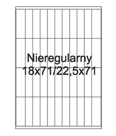 Etykiety uniwersalne samoprzylepne białe A4 Emerson o wymiarach 18mm x 71mm / 22.5mm x 71mm - 44 etykiety na arkuszu - 100 arkuszy w opakowaniu