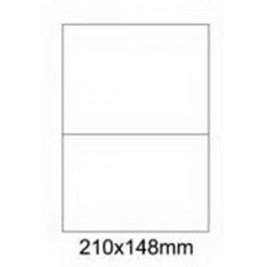 Etykiety uniwersalne samoprzylepne białe A4 Emerson o wymiarach 210mm x 148mm - 2 etykiety na arkuszu - 100 arkuszy w opakowaniu