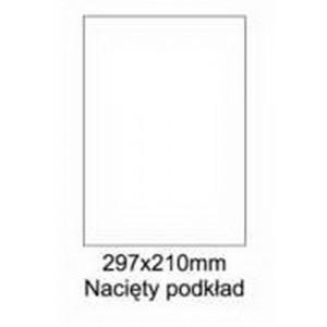 Etykiety uniwersalne samoprzylepne białe A4 Emerson o wymiarach 297mm x 210mm - 1 etykieta na arkuszu - 100 arkuszy w opakowaniu