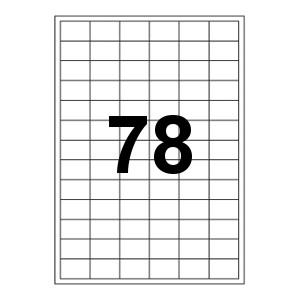 Etykiety uniwersalne samoprzylepne białe A4 Emerson o wymiarach 33mm x 22mm - 78 etykiet na arkuszu - 100 arkuszy w opakowaniu