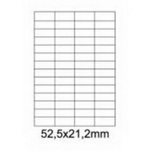 Etykiety uniwersalne samoprzylepne białe A4 Emerson o wymiarach 52.5mm x 21.2mm - 56 etykiet na arkuszu - 100 arkuszy w opakowaniu