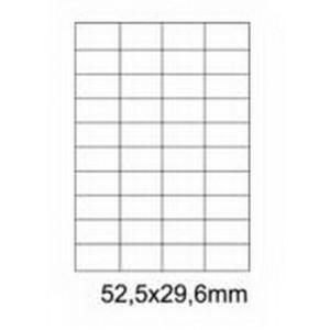 Etykiety uniwersalne samoprzylepne białe A4 Emerson o wymiarach 52.5mm x 29.6mm - 40 etykiet na arkuszu - 100 arkuszy w opakowaniu