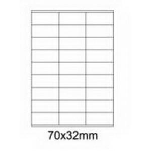 Etykiety uniwersalne samoprzylepne białe A4 Emerson o wymiarach 70mm x 32mm - 27 etykiety na arkuszu - 100 arkuszy w opakowaniu