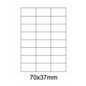 Etykiety uniwersalne samoprzylepne białe A4 Emerson o wymiarach 70mm x 37mm - 24 etykiety na arkuszu - 100 arkuszy w opakowaniu