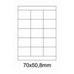 Etykiety uniwersalne samoprzylepne białe A4 Emerson o wymiarach 70mm x 50.8mm - 15 etykiet na arkuszu - 100 arkuszy w opakowaniu