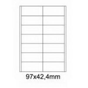 Etykiety uniwersalne samoprzylepne białe A4 Emerson o wymiarach 97mm x 42.4mm - 14 etykiet na arkuszu - 100 arkuszy w opakowaniu