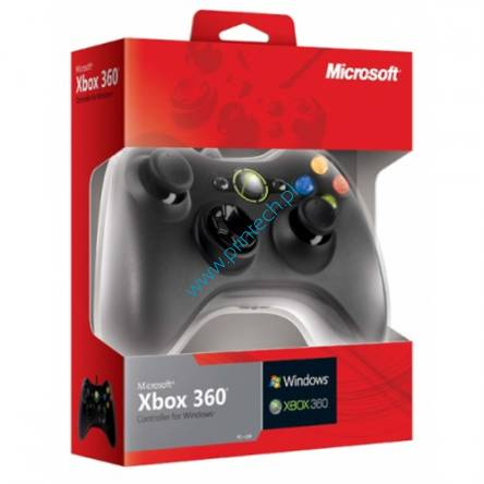 Kontroler Microsoft Xbox 360 Controller for Windows, 52A-00005, pad microsoft, kontroler do gier micorosoft, microsoft wrocław, akcesoria do gier